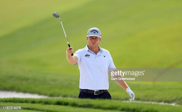 Talor Gooch plays a shot during a practice round prior to The Honda Classic at PGA National Resort and Spa on February 26 2019 in Palm Beach Gardens...