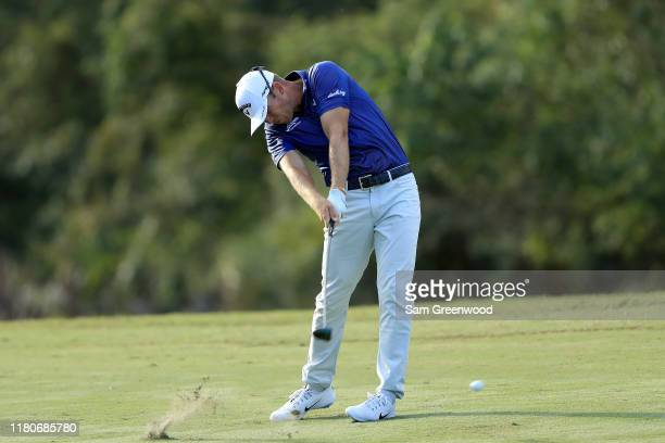 Talor Gooch plays a shot on the 15th hole during the third round of the Houston Open at the Golf Club of Houston on October 12 2019 in Humble Texas