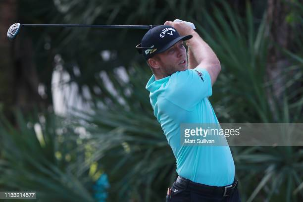 Talor Gooch plays his shot from the second tee during the third round of the Honda Classic at PGA National Resort and Spa on March 02 2019 in Palm...