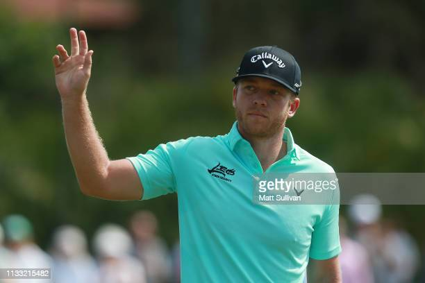 Talor Gooch reacts after a putt on the second green during the third round of the Honda Classic at PGA National Resort and Spa on March 02 2019 in...
