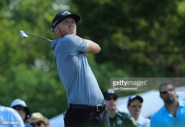 Talor Gooch tees off during the final round at the Arnold Palmer Invitational Presented By MasterCard at Bay Hill Club and Lodge on March 18 2018 in...