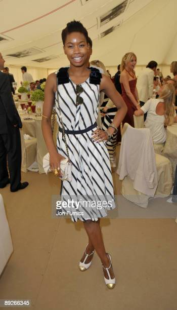 Taloula at the Cartier Tent during the Cartier International Polo Day at Guards Polo Club on July 26 2009 in Egham England