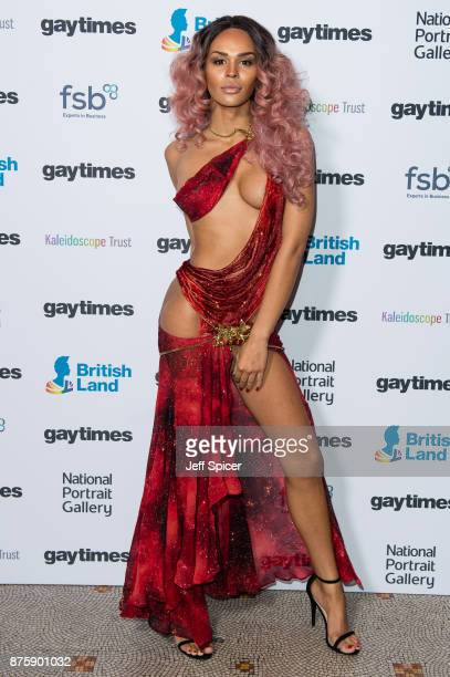 Talulah Eve attends the Gay Times Honours held at National Portrait Gallery on November 18 2017 in London England