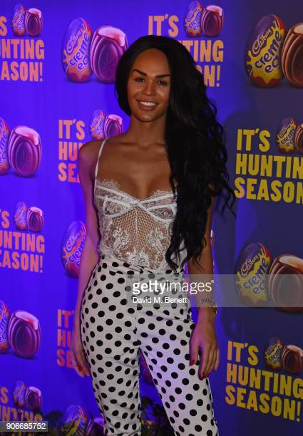 Talulah Eve attends the Grand Opening of the Cadbury Creme Egg Camp on January 18 2018 in London England