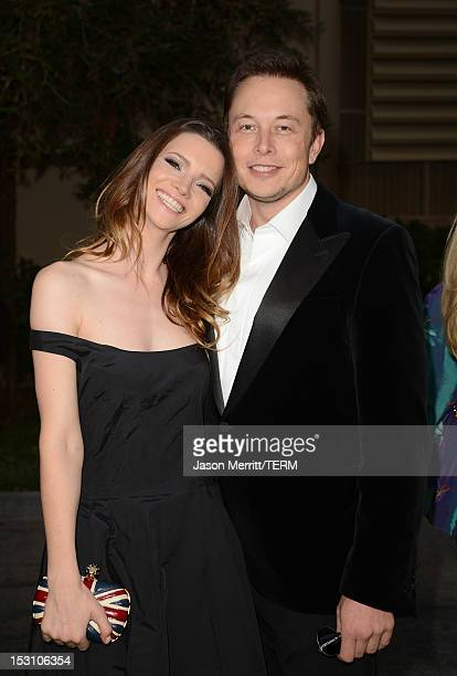 Talulah Riley and Elon Musk arrive at the 22nd Annual Environmental Media Awards on Saturday Sept. 29 at Warner Bros. Studios in Burbank, Calif.