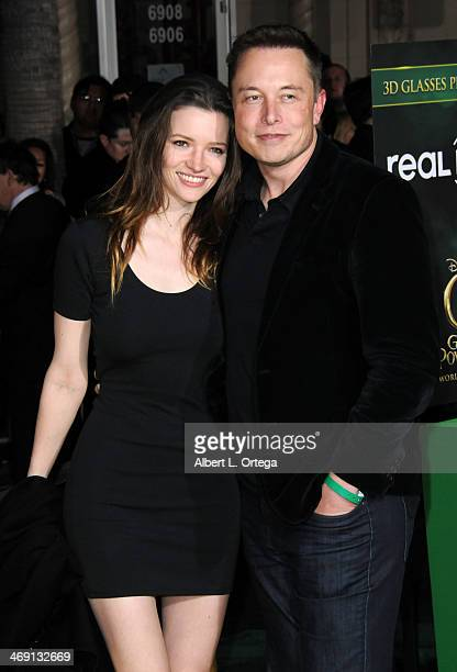 """Talulah Riley and Elon Musk arrive for The Premiere Of Walt Disney Pictures' """"Oz The Great And Powerful"""" held at The El Capitan Theater on October 6,..."""