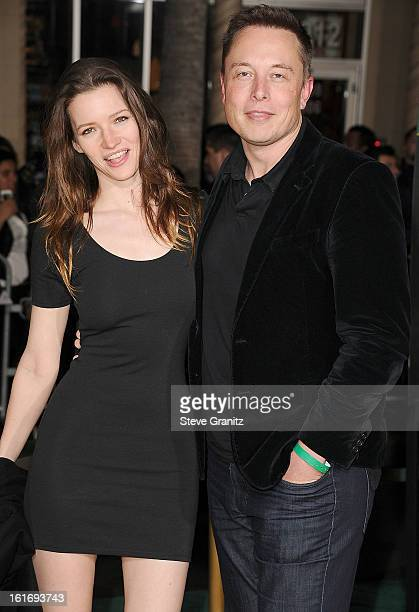 """Talulah Riley and Elon Musk arrives at the """"OZ The Great And Powerful"""" - Los Angeles Premiere at the El Capitan Theatre on February 13, 2013 in..."""