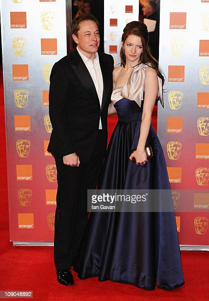 Talulah Riley and Elon Musk attend the 2011 Orange British Academy Film Awards at The Royal Opera House on February 13, 2011 in London, England.