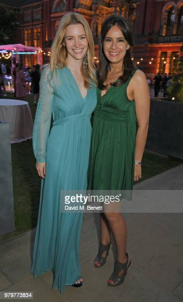 Talulah Riley and Sophie Winkleman attend the Summer Party at the VA in partnership with Harrods at the Victoria and Albert Museum on June 20 2018 in...