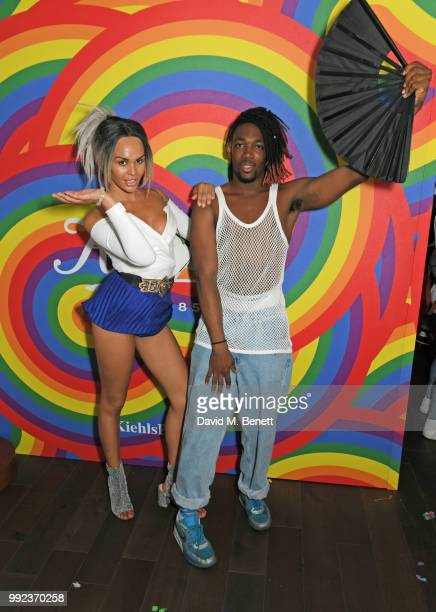 TalulahEve and Jay Jay Revlon attend Kiehl's 'We Are Proud' party to celebrate Pride on July 5 2018 in London England