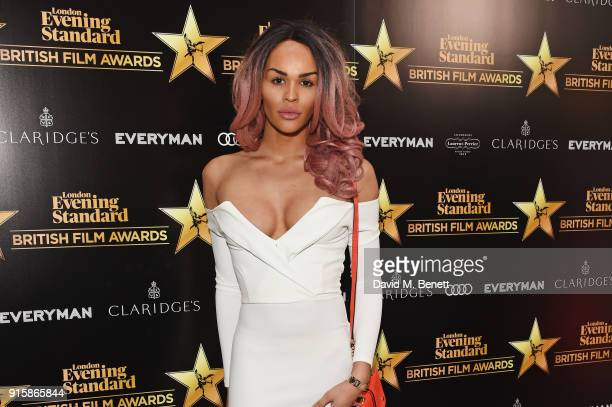 TalulahEve arrives at the London Evening Standard British Film Awards 2018 at Claridge's Hotel on February 8 2018 in London England
