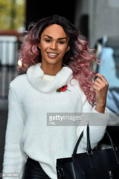 TalulahEve seen at the ITV Studios on November 9 2017 in London England