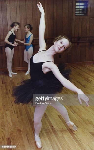 Talya Salant of Newton Mass cowinner of England's prestigious Phyllis Bedells Scholarship of Royal Academy of Dancing poses at the Walnut Hill School...