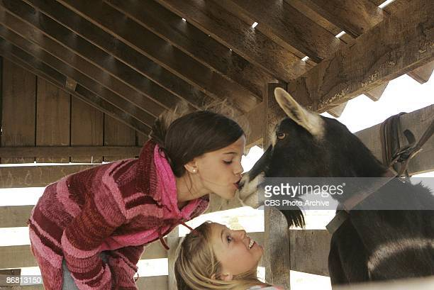 Talyor and Randi can't resist kissing their goat in KID NATION the new reality series which will premiere Wednesdays on the CBS Television Network...