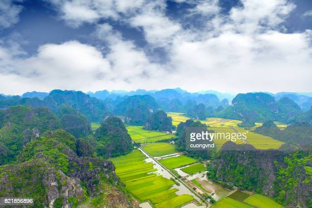 Tam Coc, Ninh Binh, Vietnam from above