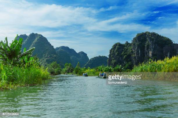 tam coc - popular tourist destination in vietnam - vietnam stock pictures, royalty-free photos & images