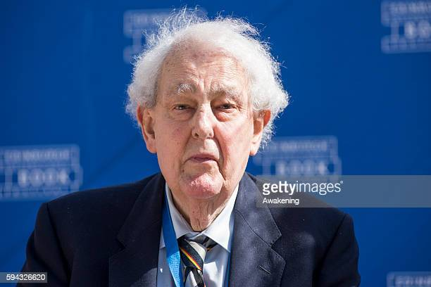 Tam Dalyell attends the Edinburgh International Book Festival on August 21 2016 in Edinburgh Scotland The Edinburgh International Book Festival is...