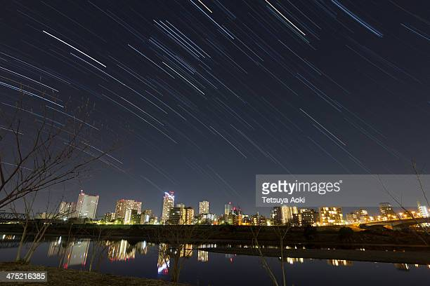 Tama River with star trails