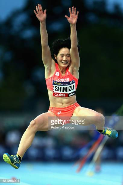 Tamaka Shimizu of Japan competes in women long jump during the 2017 Nitro Athletics Series at Lakeside Stadium on February 9 2017 in Melbourne...
