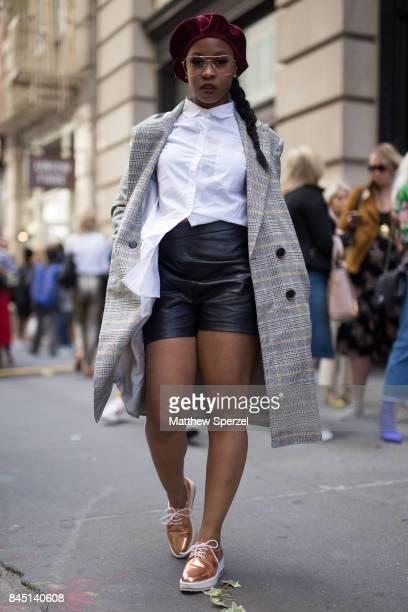 Tamala Clarice is seen attending Banana Republic x Olivia Palermo during New York Fashion Week wearing Zara on September 9 2017 in New York City