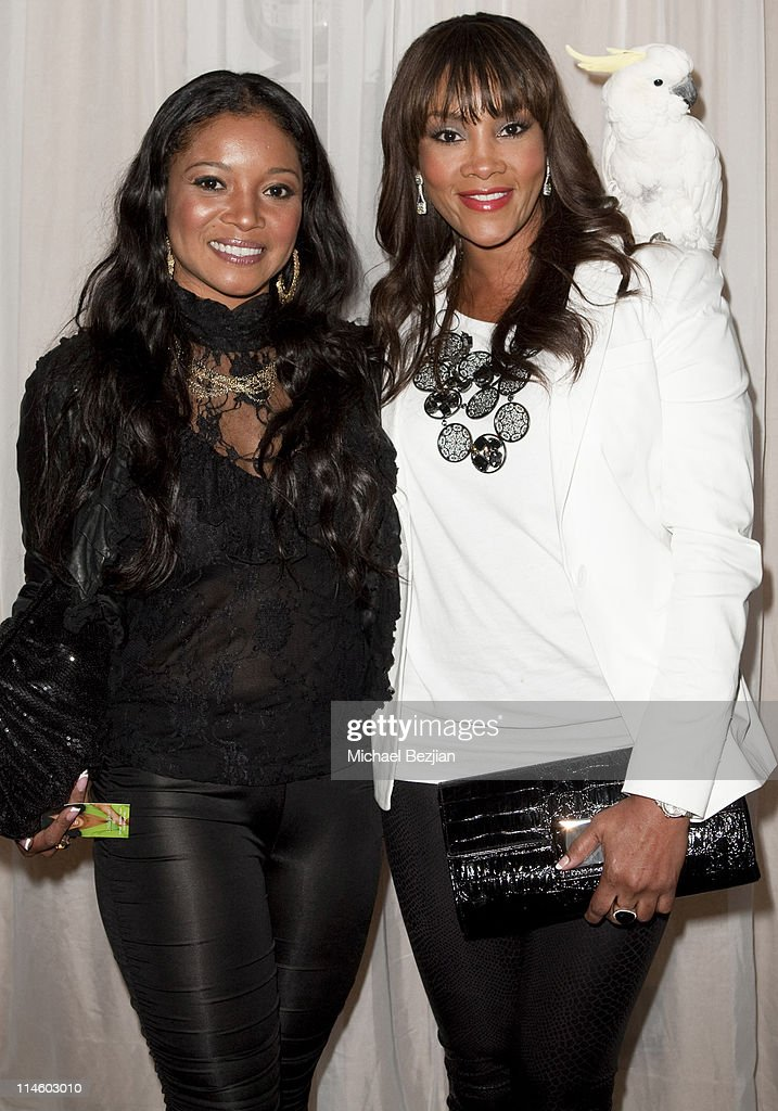 Tamala Jones and Vivica A. Fox at Diana Lopez Birthday Celebration on May 22, 2010 in Los Angeles, California.