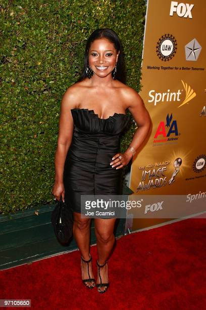 Tamala Jones arrives at the 41st NAACP Image Awards - Nominees Pre-Show Gala Reception at Milk Studios on February 25, 2010 in Los Angeles,...