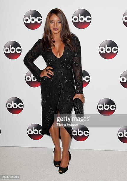 Tamala Jones attends the Disney/ABC 2016 Winter TCA Tour at Langham Hotel on January 9, 2016 in Pasadena, California.