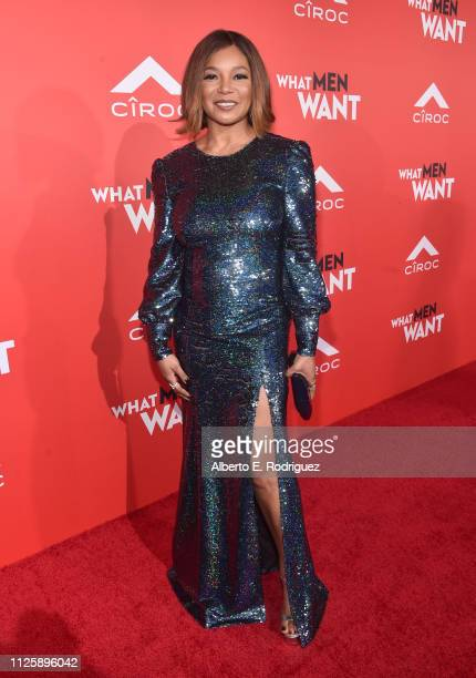 """Tamala Jones attends the premiere of Paramount Pictures and BET Films' """"What Men Want"""" at Regency Village Theatre on January 28, 2019 in Westwood,..."""
