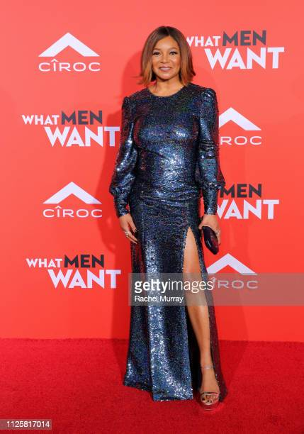 """Tamala Jones attends the U.S. Premiere of """"What Men Want"""" in partnership with CÎROC and presented by Paramount Pictures, Paramount Players, BET Films..."""