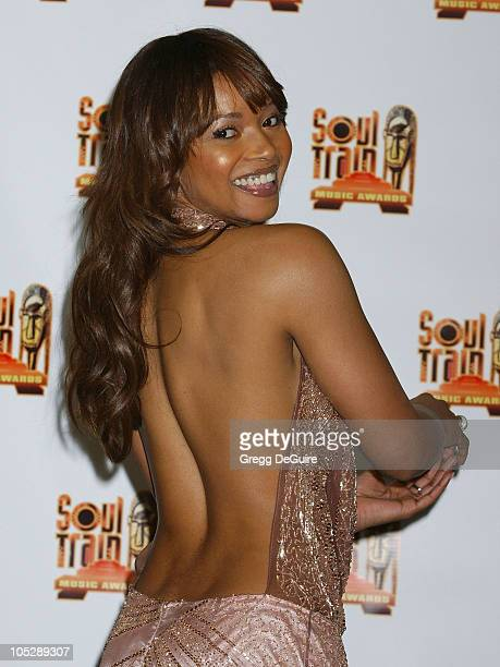 Tamala Jones during 18th Annual Soul Train Music Awards - Press Room at International Cultural Center in Los Angeles, California, United States.