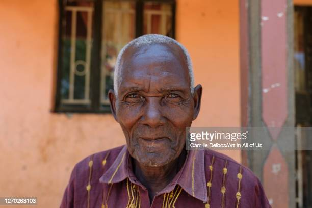 Tamale, 90 years old, chairman of a farmer association on Septembre 22, 2018 in Tondola, Gomba District, Uganda.