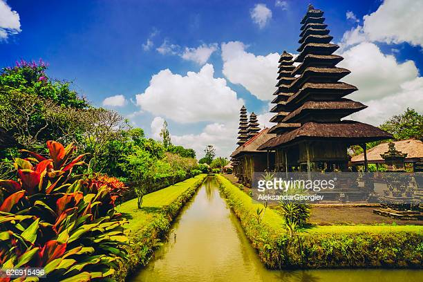 taman ayun the royal family temple in bali, indonesia - bali stock pictures, royalty-free photos & images