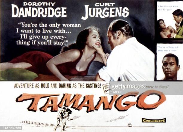 Tamango poster Dorothy Dandridge Curd Jurgens Jean Servais Alex Cressan 1958