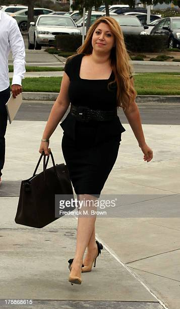 Tamar Arminak attorney for Amanda Bynes' parents arrives for a hearing to determine if Amanda Byneswill be required to spend additional time in a...