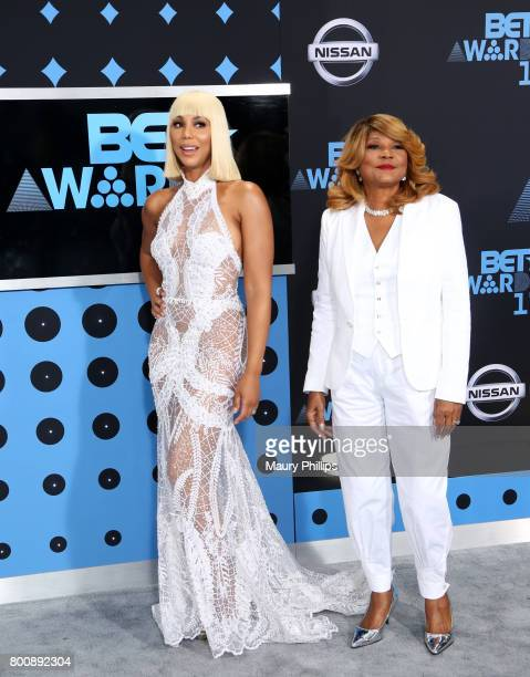 Tamar Braxton and Evelyn Braxton at the 2017 BET Awards at Microsoft Square on June 25 2017 in Los Angeles California