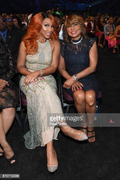 Tamar Braxton and Evelyn Braxton attend the 2017 Soul Train Awards, presented by BET, at the Orleans Arena on November 5, 2017 in Las Vegas, Nevada.