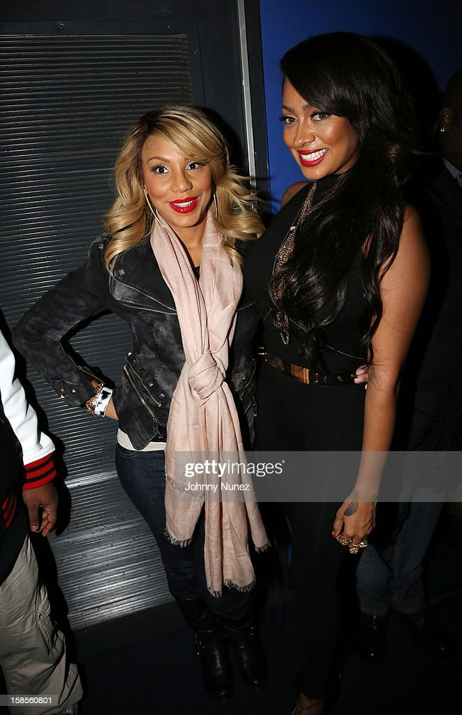 Tamar Braxton and La La Anthony attend 'T.I. In Concert' at Best Buy Theater on December 18, 2012 in New York, United States.
