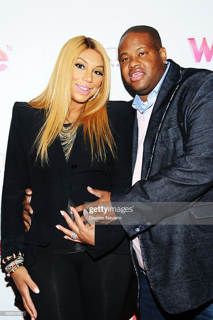 Tamar Braxton and songwriter Vincent Herbert attend the 'Braxton Family Values' Season Three premiere party at STK Rooftop on March 13, 2013 in New York City.