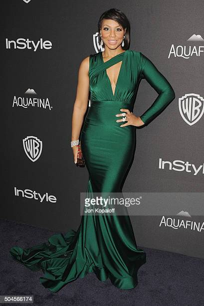 Tamar Braxton arrives at the 2016 InStyle And Warner Bros. 73rd Annual Golden Globe Awards Post-Party at The Beverly Hilton Hotel on January 10, 2016...