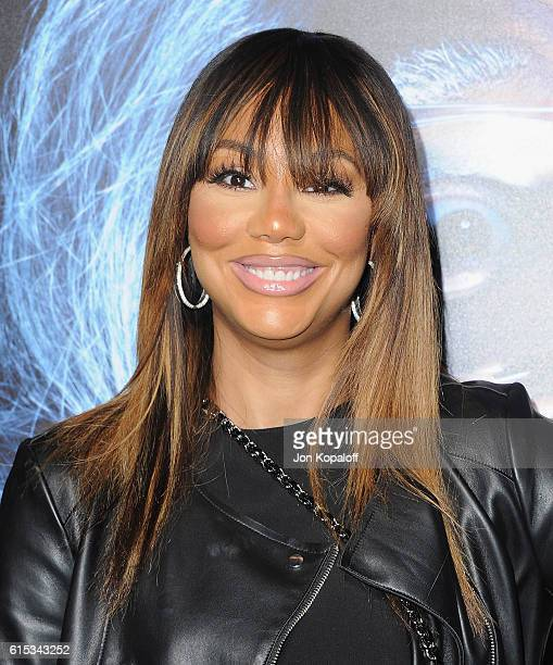 Tamar Braxton arrives at the Los Angeles Premiere Boo A Madea Halloween at ArcLight Cinemas Cinerama Dome on October 17 2016 in Hollywood California