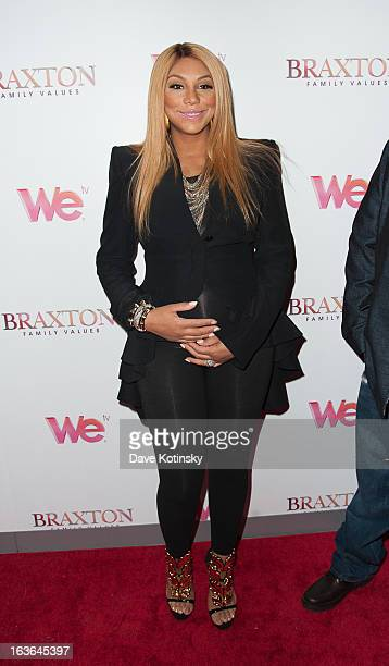 Tamar Braxton attend the 'Braxton Family Values' Season Three premiere party at STK Rooftop on March 13 2013 in New York City