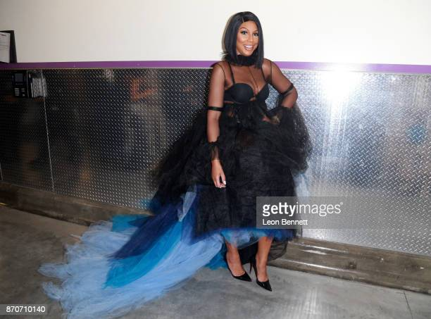Tamar Braxton attends the 2017 Soul Train Awards, presented by BET, at the Orleans Arena on November 5, 2017 in Las Vegas, Nevada.