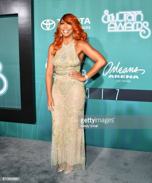Tamar Braxton attends the 2017 Soul Train Music Awards at the Orleans Arena on November 5 2017 in Las Vegas Nevada