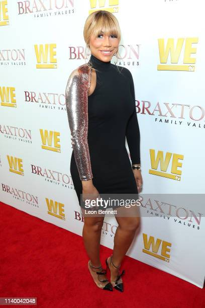 Tamar Braxton attends WE tv's Braxton Family Values Season 6 Premiere at The Doheny Room on April 02 2019 in West Hollywood California