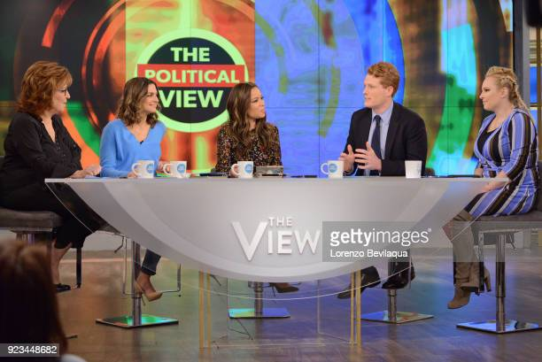 THE VIEW Tamar Braxton is the guest cohost and Congressman Joe Kennedy is the guest today Friday 2/23/18 on Walt Disney Television via Getty Images's...