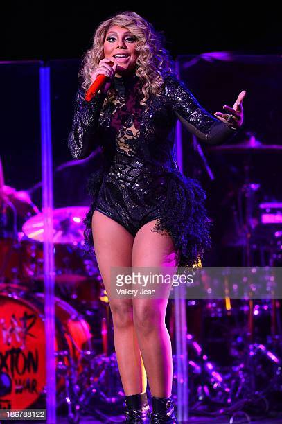 Tamar Braxton performs during John Legend 'Made To Love World Tour' at Fillmore Miami Beach on November 3 2013 in Miami Beach Florida