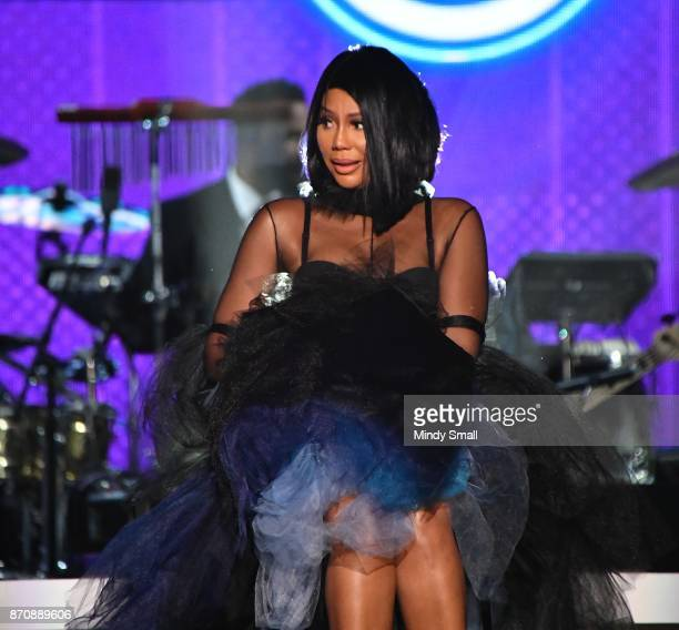 Tamar Braxton performs during the 2017 Soul Train Music Awards at the Orleans Arena on November 5 2017 in Las Vegas Nevada
