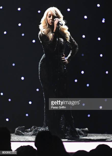 Tamar Braxton performs onstage at 2017 BET Awards at Microsoft Theater on June 25 2017 in Los Angeles California