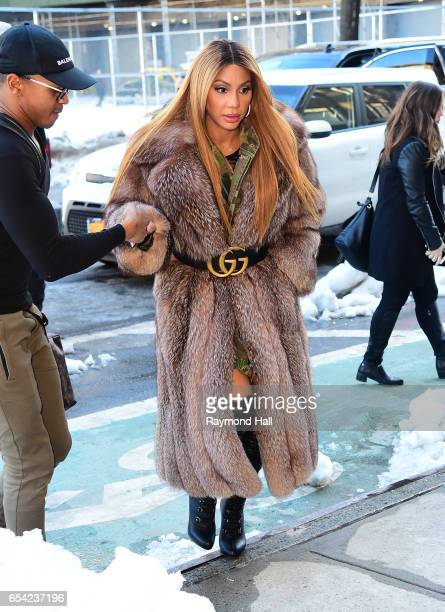 Tamar Braxton seen outside out Hot97 in Soho on March 16 2017 in New York City
