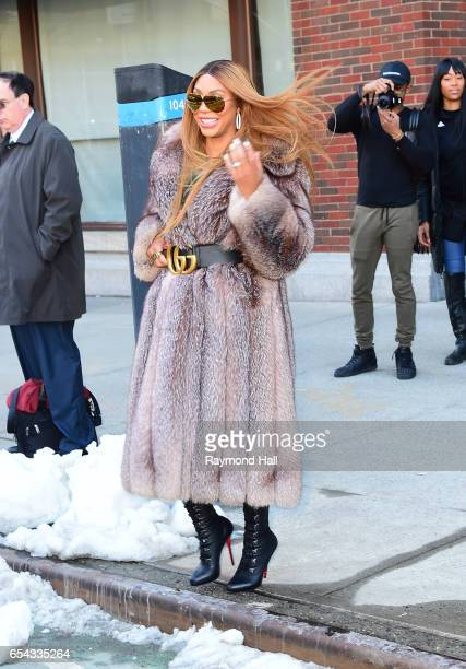 Tamar Braxton seen outside out Hot97 on March 16 2017 in New York City